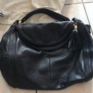 Onna enrilch black leather Rachel hobo